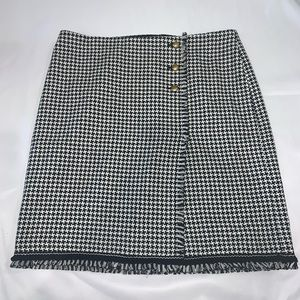 Talbots lined houndstooth career skirt NWOT